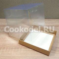 Коробка для пряничного домика подарочная 15,5х15,5х15 см двусторонняя