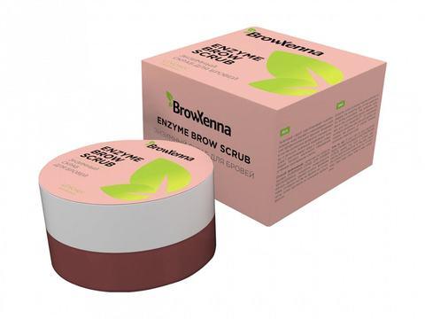 Энзимный скраб для бровей, Enzyme Scrub  BrowXenna, 1шт