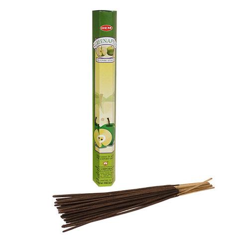 Палочки ароматические благовония HEM Зеленое Яблоко Green Apple 20 шт