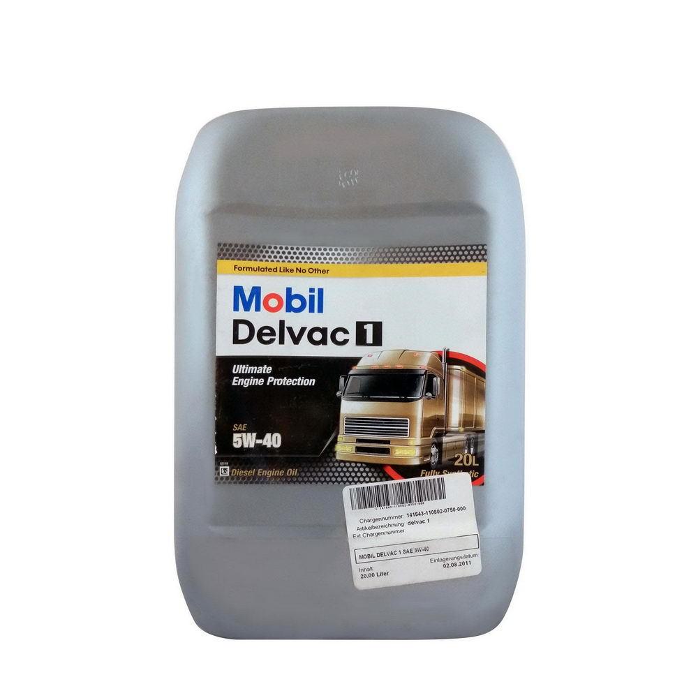 141543 MOBIL DELVAC 1 5W-40 синтетическое масло для коммерческого транспорта 20 Литров купить на сайте официального дилера Ht-oil.ru