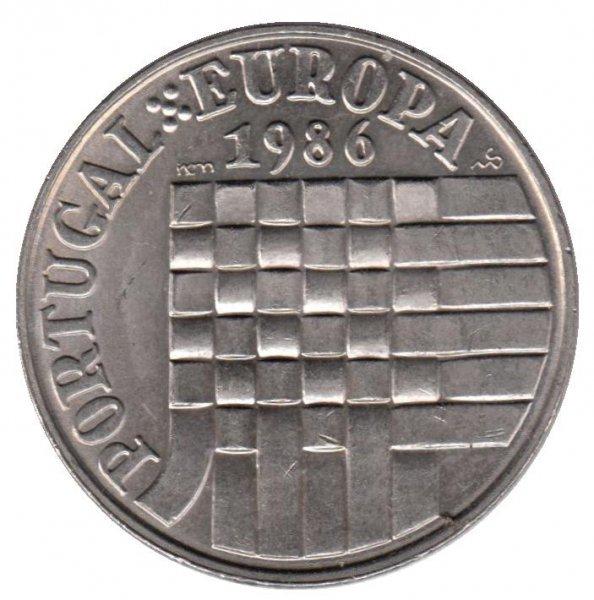 """25 эскудо """"Присоединение Португалии к Европейскому союзу"""" 1986 год"""