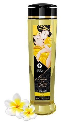 Массажное масло с ароматом моной Serenity - 240 мл.