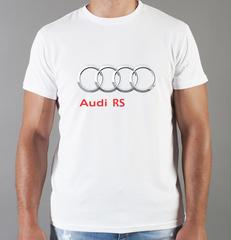 Футболка с принтом Ауди RS (Audi RS) белая 0050