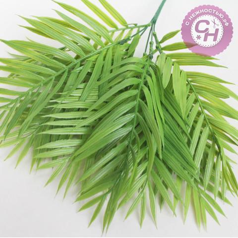 Искусственная зелень  - букет пальмы, 9-10 листов, 5 веток, 40 см.