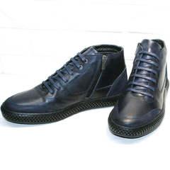 Термоботинки мужские. Ботинки осень зима Luciano Bellini BC2802 L Blue.