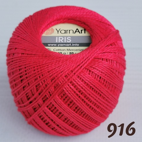 YARNART IRIS 916, Красный