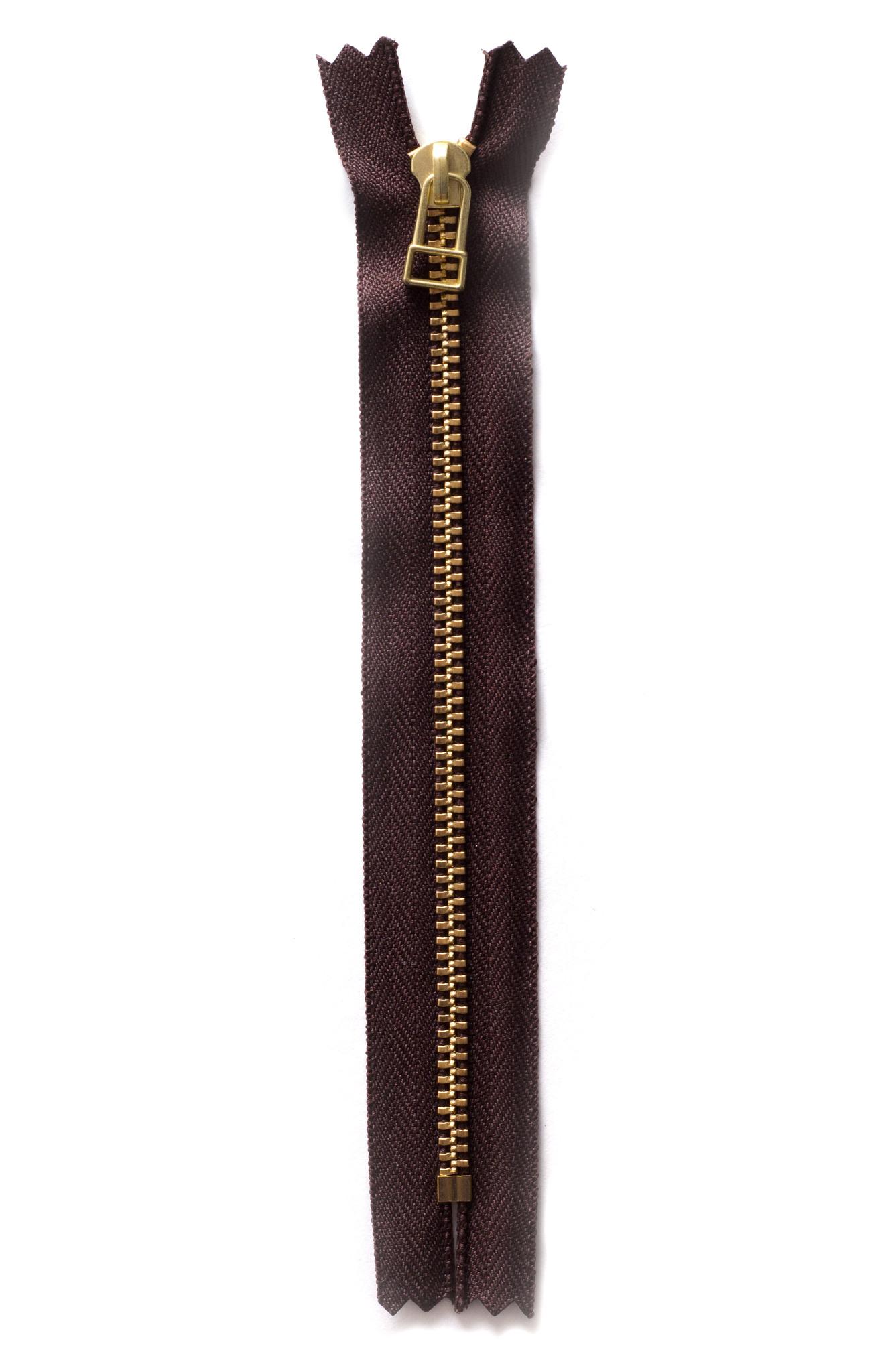 Молния YKK 16 см. тип 3, коричневый цв.