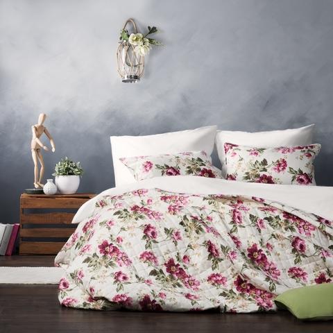 Комплект штор и покрывало Ингрит розовый