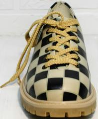 Модные женские туфли на низком каблуке Goby TMK6506