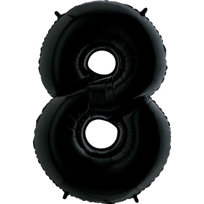 Фольгированная цифра 8, черный