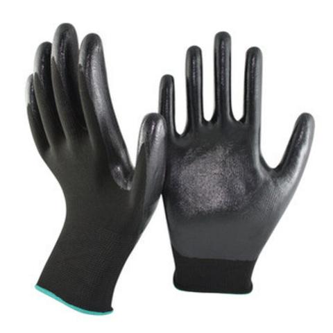 Перчатки нейлоновые с полиур. покрытием ( цв.черный)