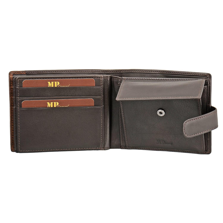 B123169R Castanho - Портмоне с RFID защитой MP