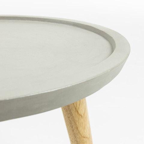 Приставной стол livy каучуковый цемент серый