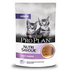 Пауч Purina Pro Plan JUNIOR, для котят, паштет с индейкой