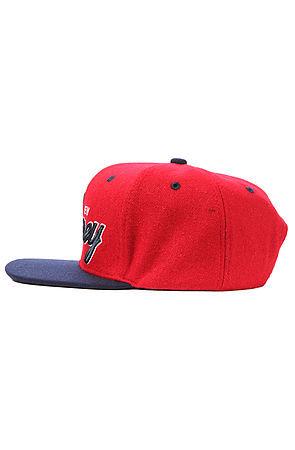 Утепленная бейсболка красная фото 3