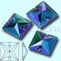 Купить пришивные стразы оптом Blue Zircon AB Square квадратные