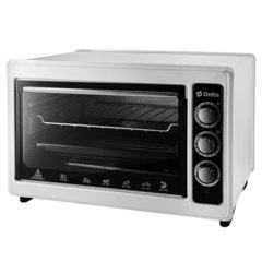 Мини печь | Духовка электрическая 1300 Вт 37 л DELTA D-0124 с грилем, белая