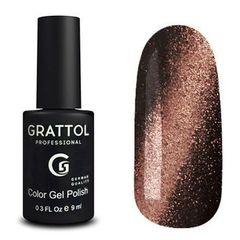 Grattol, Покрытие с эффектом Кошачий глаз Crystal № 006, Copper 9 мл
