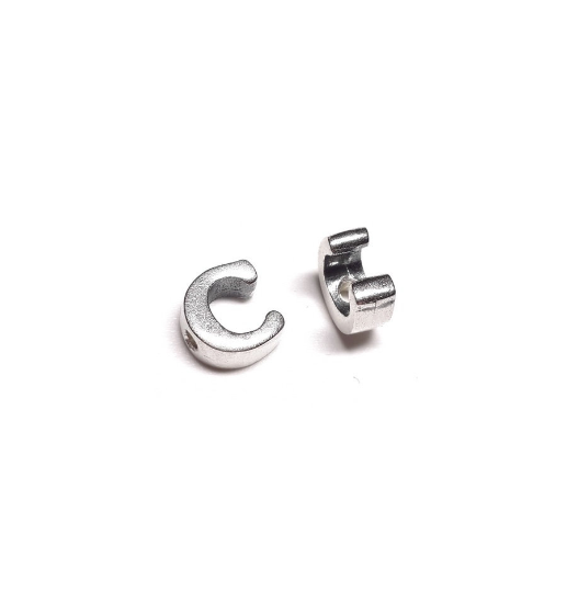 Alphabet letter C, sterling silver