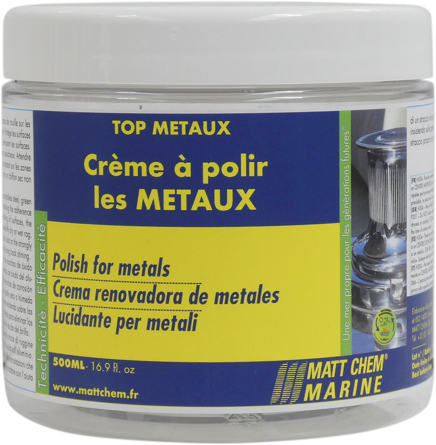 Stainless steel cleaner and rust remover Top Metaux