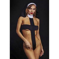 Откровенный эротический костюм монахини