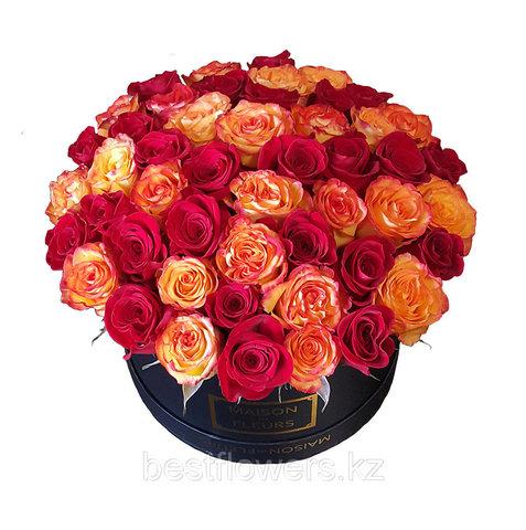 Коробка Maison Des Fleurs оранж-красн