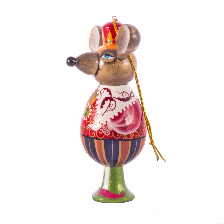 Ёлочная деревянная игрушка Мышиный король