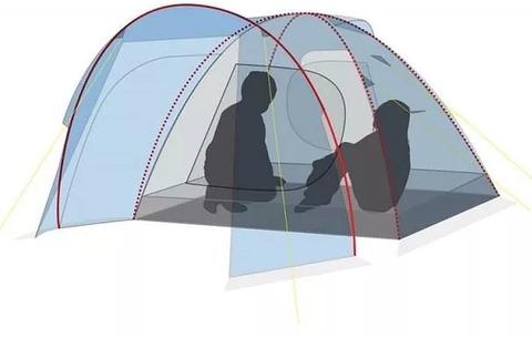 Палатка Canadian Camper RINO 3, цвет royal, схема 2.