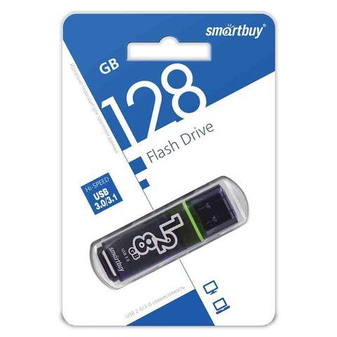 Флеш-накопитель 128GB 3.0 Smart Buy Glossy темно серый