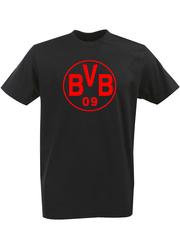 Футболка с однотонным принтом FC Borussia Dortmund (ФК Боруссия) черная 004