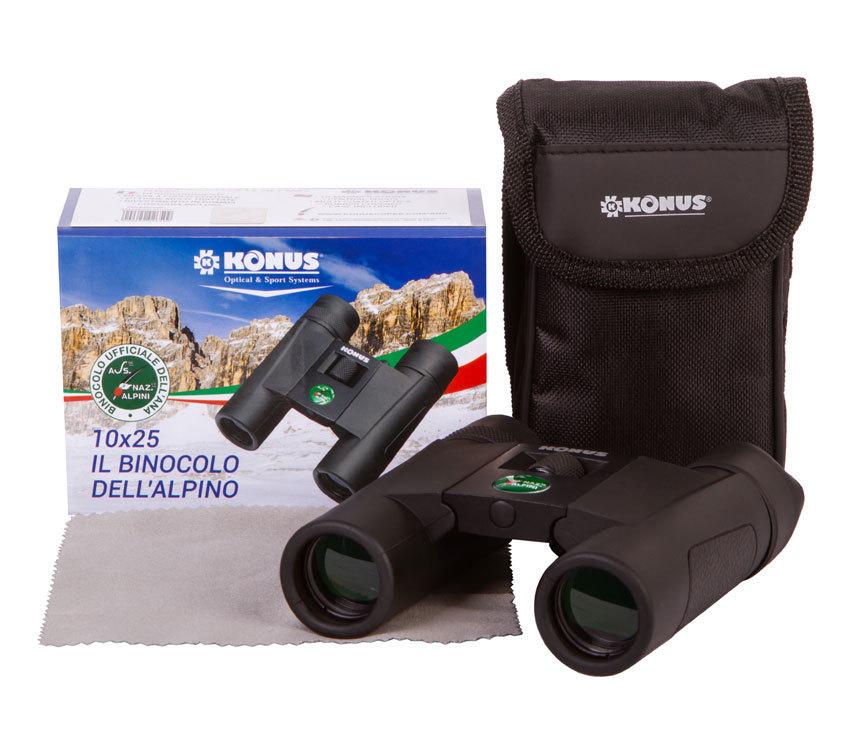 Бинокль Konus Alpino 10x25 - фото 2 - комплект поставки