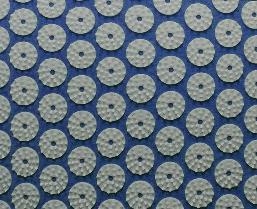 Массажный коврик (аппликатор Кузнецова) + подушка (синий) Фото №2