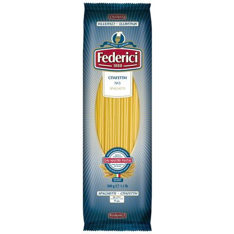 Макароны Federici спагетти №003, 500г