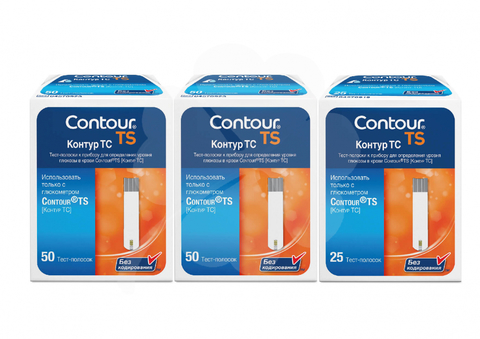 2 упаковки тест-полосок Контур ТС № 50 + 1 уп. № 25