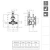 Встраиваемый термостатический смеситель для душа RS-CROSS 622411S на 1 выход - фото №2