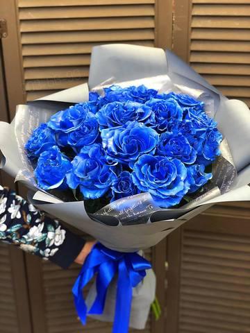 21 синяя роза в оформлении #43434