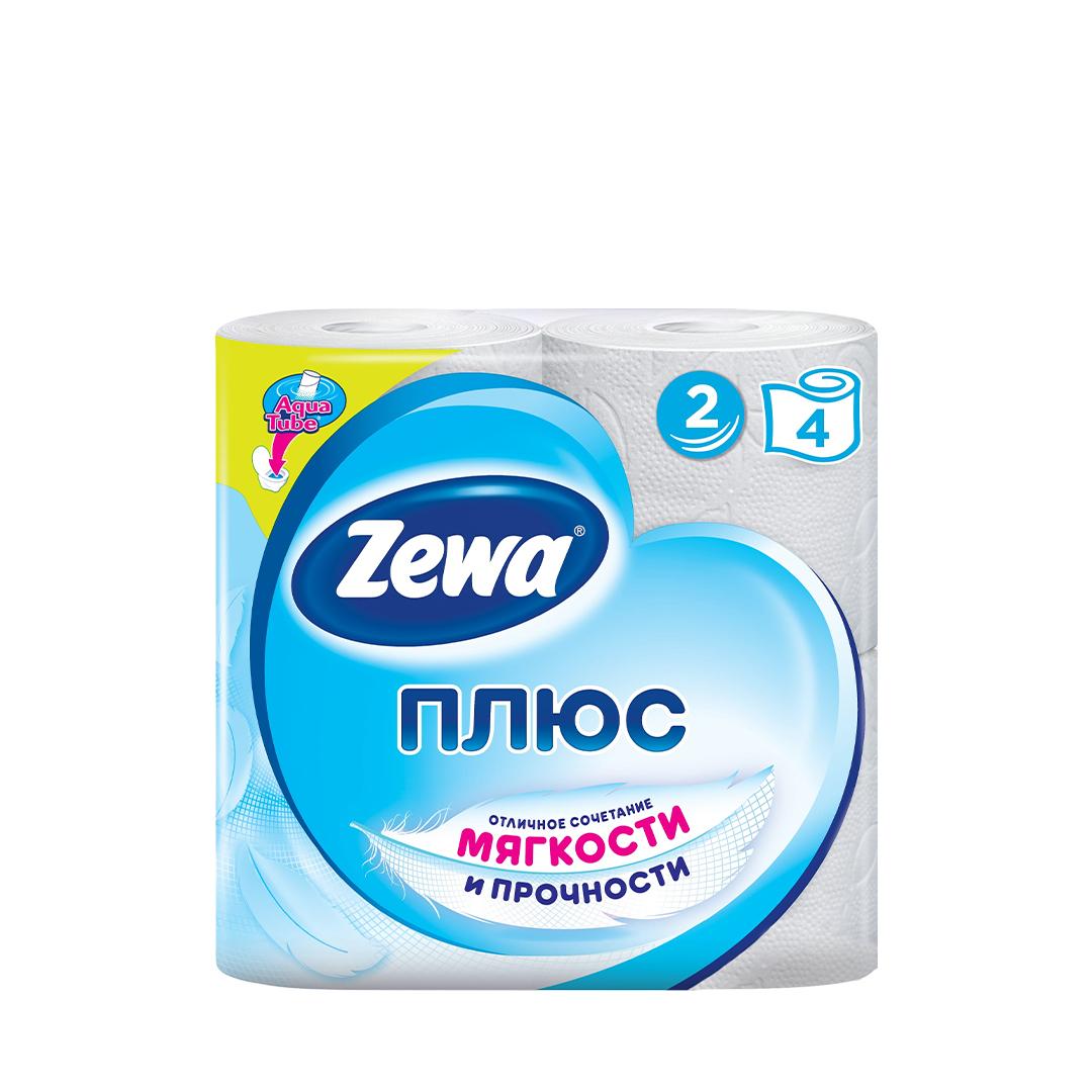 Бумага туалетная  ЗЕВА + 4 рул.2-х.сл.белая