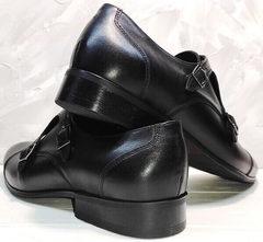 Осенние туфли мужские кожаные Ikoc 2205-1 BLC.