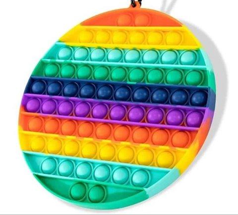 Антистресс игрушка Pop It, круг большой, радужный
