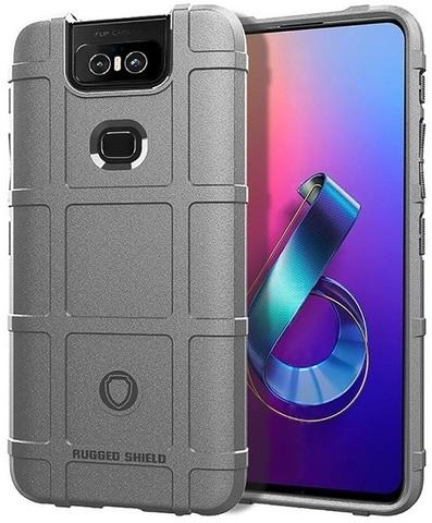 Чехол Asus ZenFone 6 (ZenFone 6Z) цвет Gray (серый), серия Armor, Caseport