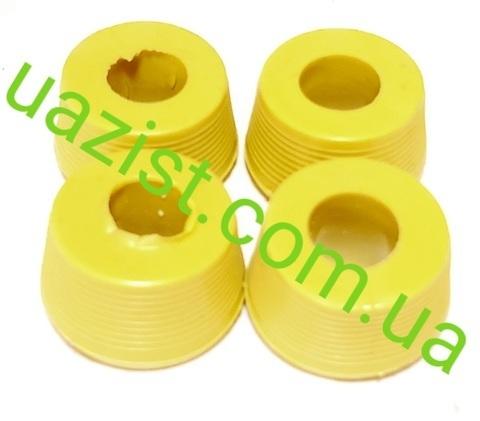 Втулка амортизатора УАЗ 452, 469, Патриот, Хантер жёлтая резина (4 штуки)