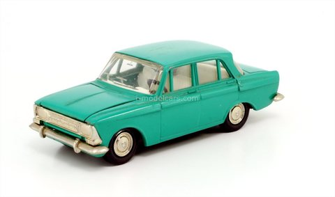 Moskvich-412 green (plastic bottom) Agat Tantal Made in USSR 1:43