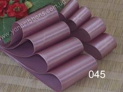 Лента атласная однотонная розовая  - 045.