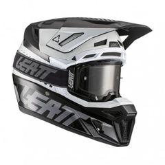 Шлем Leatt 8.5 Carbon V21.1 черно-белый L(59-60) + очки Velocity 5.5