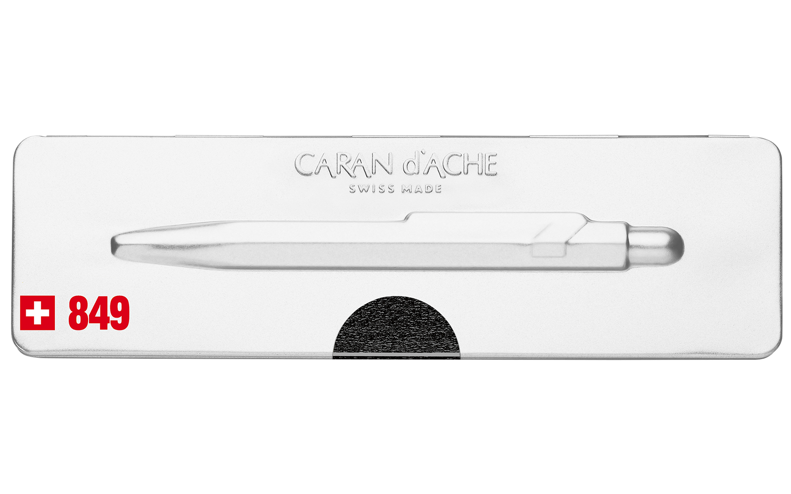 Carandache Office 849 Pop Line - Metallic Black, шариковая ручка, M