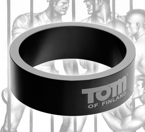 Эрекционное кольцо из металла Tom of Finland - 6 см