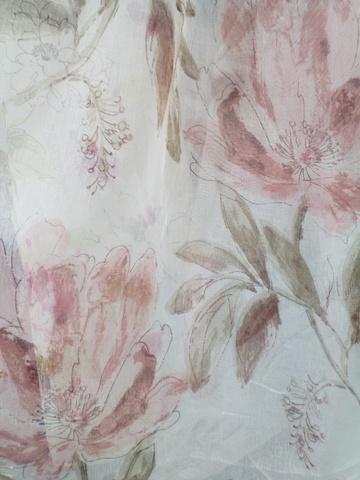 Лен цветы розовые. Арт. КА-10