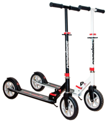 Двухколесный самокат для взрослых, материал - металл/пластик BIBITU CROSS  SKL-037-AWS, надувные колеса, Черный