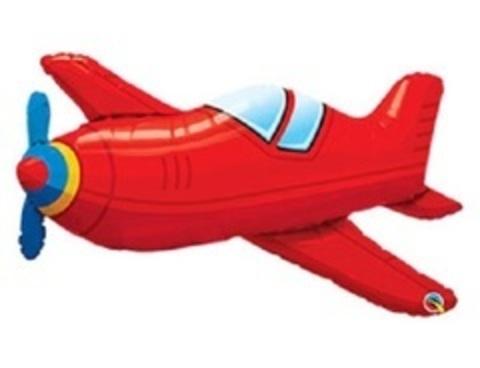 П Фигура 6 Самолет красный винтаж, 36