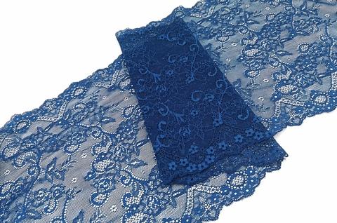 Эластичное кружево, ОПТ, марокканский синий, 25см (Артикул: EK-1074), м